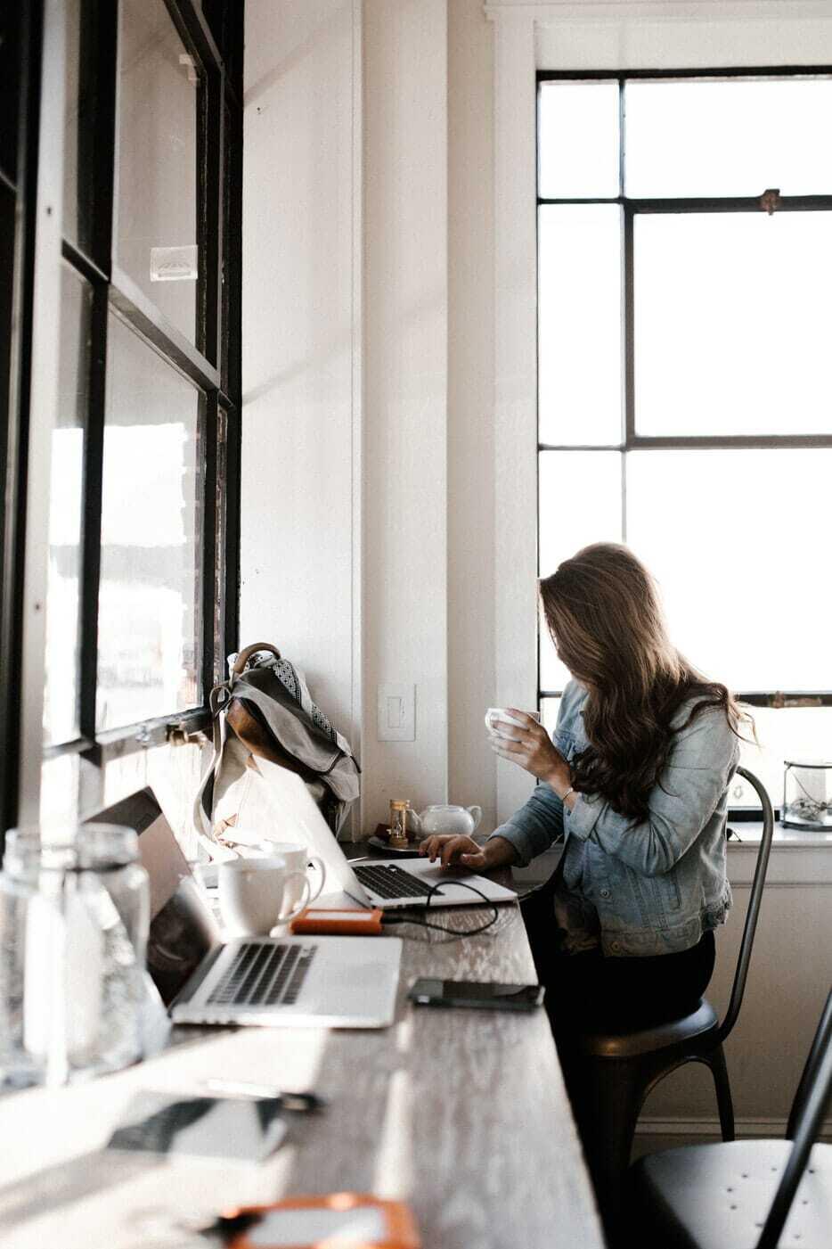 Women at Computer Digital Marketing COVID-19 Strategy