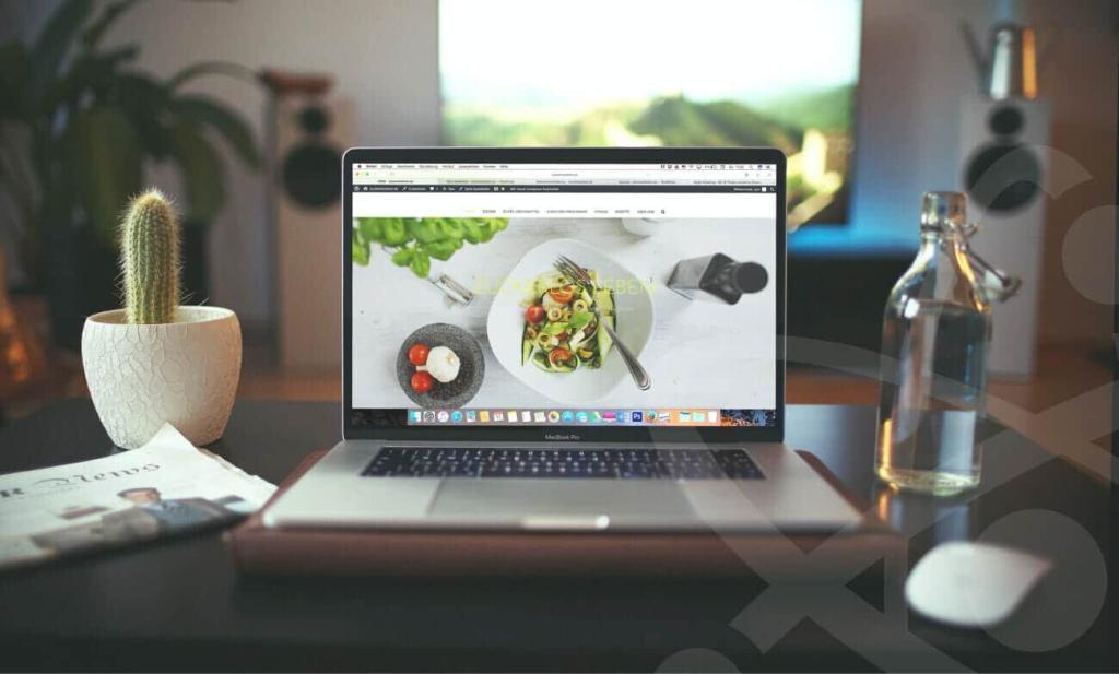 Laptop on Computer Desk